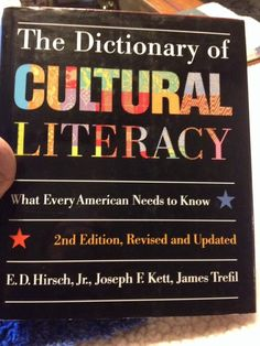 The Dictionary of Cultural Literacy What Every American Needs to Know (1993 Hard