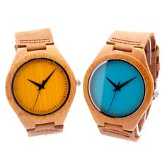 Cheap watch with, Buy Quality watch men directly from China watch men watch Suppliers: BOBO BIRD 2016 New Colorful Natural Bamboo Wood Men Watches With Real Leather Strap Relogio Masculino In Gift Box Wooden Watches For Men, Armani Watches, Cool Watches, Men's Watches, Wrist Watches, Quartz Watch, Wood Watch, Real Leather, Luxury Branding