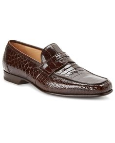 c0eedd285192 Caporicci Alligator Penny Loafer Penny Loafers