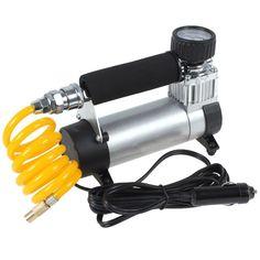 Portable Super Flow Auto Tire Inflator / Car Air Pump Car Pumps Car Air Compressor Has Many Use Electric Air Compressor, Best Portable Air Compressor, Best Handheld Shower Head, Bmw Electric, Auto Tire, Stuff To Buy, Air Compressors, Flow, Travel