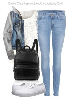 """""""Davina Claire Inspired Zombie Apocalypse Outfit"""" by staystronng ❤ liked on Polyvore"""