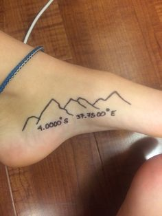 Coordinates of mountains I went to in Tanzania