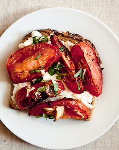 // Roasted Tomato Tartine