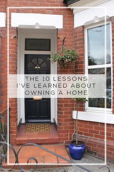 10 Lessons of Home Ownership