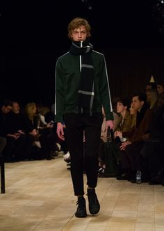 A tracksuit jacket with slim-fit tracksuit trousers and The Satchel in dark forest green suede