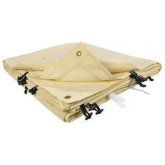 Ose - Ose - Toile de rechange beige pour auvent ou tonnelle adossée 4 m x 3 m