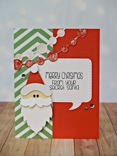 Lil' Inker Designs October Release Blog Hop card by Laura Williams featuring the Make A Santa Die and Stamp Bundle