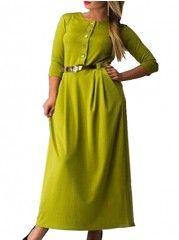 Pockets Round Neck Plus Size Midi & Maxi Dress