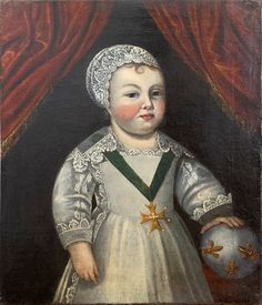 Portrait Of Louis XIV Child, workshop of Claude Deruet, circa 1639 Louis Xiv, Versailles, Workshop, Portrait, American, Children, Image, Collection, Dresses
