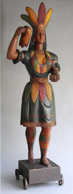 Cigar store Indian valued at $250,000 - Antiques