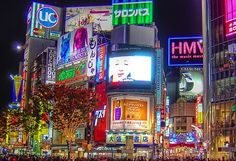 Piccadilly Circus in London is illuminated by the neon lights.