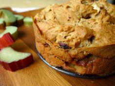 Glutenvrije rabarbercake