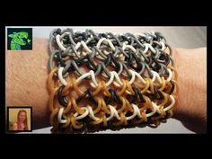 How To Make A Dragon Scale Cuff on a rainbow Loom I Revised ** ORIGINAL DESIGNER ** - YouTube