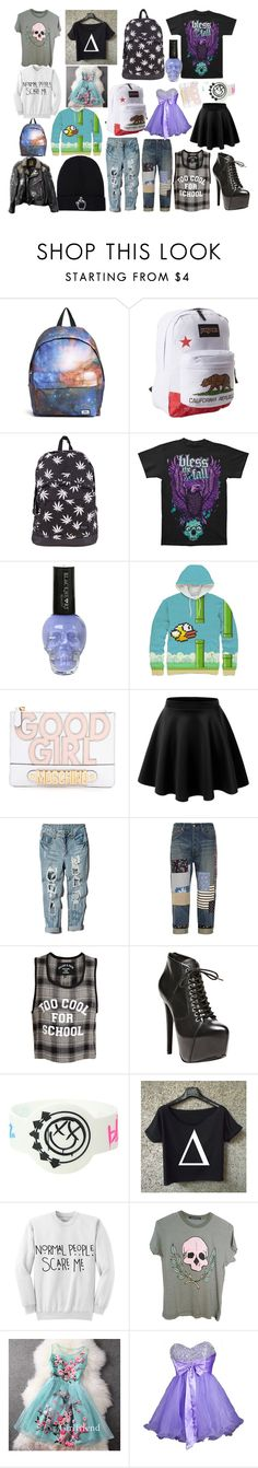 First 20 Items by nekoprincess on Polyvore featuring FairOnly, INDIE HAIR, Wildfox, Filles à papa, Junya Watanabe, LE3NO, Steve Madden, HUF, JanSport and Hype