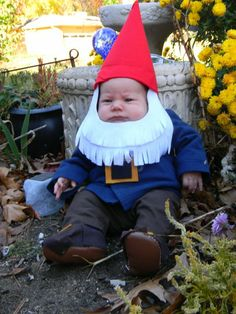 @Angela Gray Gray VandenBroek and @Nick VandenBroek- You guys should have your future babies dress up as gnomes for Halloween!