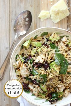 Chicken Salad with Quinoa and Orzo