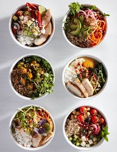 How to Build a Grain Bowl One-bowl meals—a grain base, a protein, vegetables, sauce and toppings—are all the rage. Here's how to build a grain bowl in five easy steps. Healthy Recipes, Vegan Breakfast Recipes, Brunch Recipes, Cooking Recipes, Superfood Recipes, Healthy Meals, Clean Eating, Healthy Eating, Grain Bowl