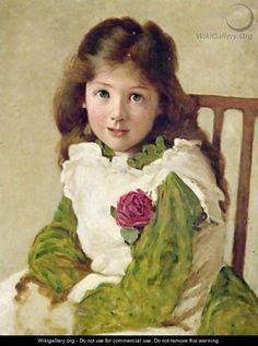 Portrait of the Artists Daughter - George Dunlop, R.A., Leslie