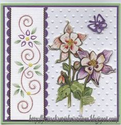 Embroidery Cards, Cross Stitch Embroidery, Floral Print Design, Floral Prints, Paper Art, Paper Crafts, Pin Card, Sewing Cards, Christmas Cards To Make