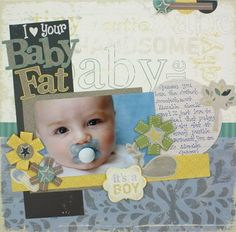 Rugged Baby Boy Arrival Addition Scrapbook Layout Idea from Creative Memories…