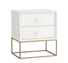 Spencer Nightstand; Redford House - many finishes available. Possibly with different hardware. Like the idea of something with a metal base
