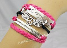 Peace Bracelet Couple bracelets leatherDream by charmcover on Etsy, $8.99
