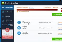 How to uninstall One System Care Malware, removal of One System Care Spyware and Adware. One System Care is classified as a potentially unwanted program.