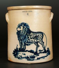 WHITES UTICA (New York) Lion Crock
