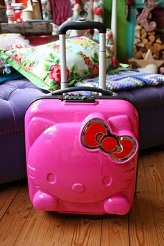 Hello Kitty Mini Trolley Travel Suitcase