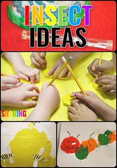 Insect Ideas {Part 1} - Sharing Kindergarten #insecttheme #artideas #scienceintheclassroom #preschool #kindergarten