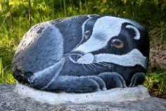 Hedgehog, painted rock
