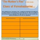 """Use this printable PDF chart for students to locate and record examples of foreshadowing after or during the reading of """"The Monkey's Paw"""" by W.W. ..."""