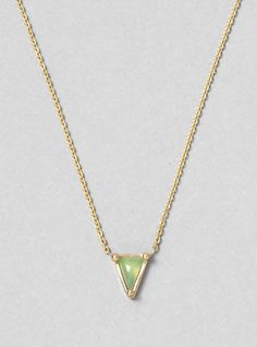 Couverture and The Garbstore - Womens - Mociun - Chrysophase Triangle Necklace