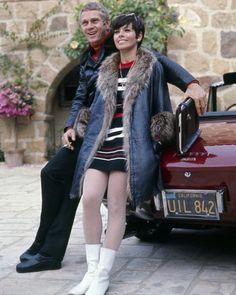 Steve McQueen posing by his Ferrari 275 sports car & wife... https://www.amazon.com/dp/B074SXZM3D/ref=cm_sw_r_pi_dp_x_L0-3zb470N3S4