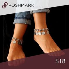 (Last One) Boho Ankle Bracelet Boho Coin Anklet. Price is for one anklet. New in package. Jewelry