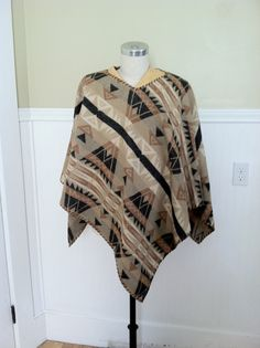 RALPH LAUREN VINTAGE Poncho Leather Navajo by STONEHEARTSVINTAGE