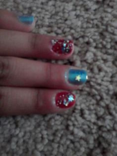 Fourth of July nails by Alexis