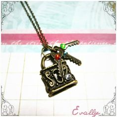 Lock and Key family necklace -Evally on Facebook