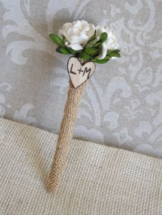Rustic Vintage Shabby Chic Burlap Guest Book by creations4brides, $12.50