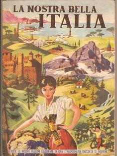 Vintage Ads, Vintage Posters, Italian Posters, Gran Hotel, Romance, Primary School, Retro, Steampunk, Memories