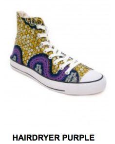 www.cewax.fr aime ces basket de style ethnique afro tendance tribale tissu wax africain Sneakers african prints ankara jaune violet