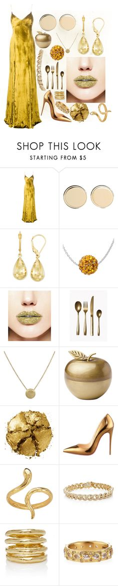 """""""Midas' touch"""" by fandom-girl365790 ❤ liked on Polyvore featuring Galvan, Givenchy, Forever 21, Seletti, Marco Bicego, Kate Spade, Pat McGrath, Christian Louboutin, Madina Visconti di Modrone and Sydney Evan"""