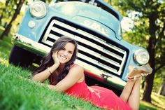 Senior pictures with grandpa's old truck