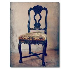 Old Antique Chair Postcard