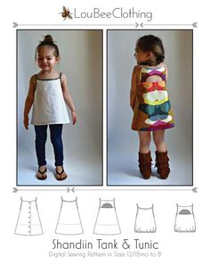SHANDIIN Tank Tunic PDF Sewing Pattern for by LouBeeClothing