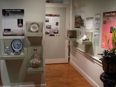 Exhibit of artifacts from China at Chatham Historical Society, Chatham, MA. American traders were interested in Chinese exports such as tea, silk fabric and porcelain. They also brought back paintings, lacquerware, clothing and carvings. #chathamhistoricalsociety, #atwoodhouse, #chathamtochina, #2010, #chatham, #capecod