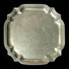"RWP Wilton Columbia PA Pewter Plate 10"" Square ~ Scarce Shape! ~ Armetale"