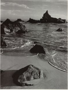 ANSEL ADAMS, SURF AND ROCK, MONTERREY COUNTY COAST, CALIFORNIA, 1951