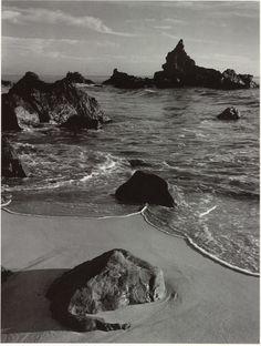 ANSEL ADAMS, SURF AND ROCK, MONTERREY COUNTY COAST, CALIFORNIA, 1951