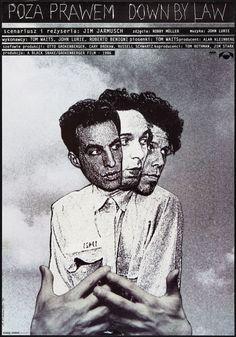 Down By Law (1986). Polish poster, designed by Andrzej Klimowski.